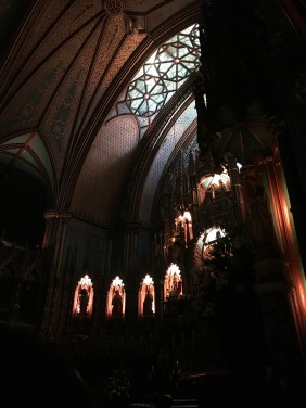 Inside of Notre Dame Basilica for Aura Basilica